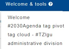 The tools menu in the Tanzania NFUR wiki (concept)